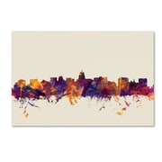 "Trademark Fine Art Michael Tompsett 'Madison Wisconsin Skyline' 12"" x 19"" Canvas Stretched (190836025671)"