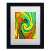 """Trademark Fine Art Amy Vangsgard 'Abstract Flower Unfurling Vertical 1' 11"""" x 14"""" Matted Framed (886511933606)"""