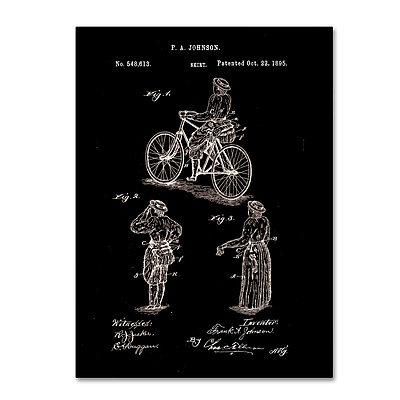 Trademark Fine Art Claire Doherty 'Cycling Skirt Patent 1885 Black' 14