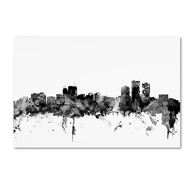 Trademark Fine Art Michael Tompsett 'Anchorage Alaska Skyline B&W' 12