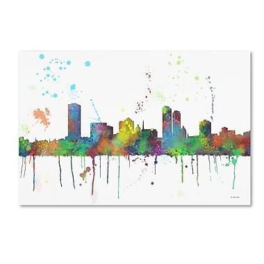Trademark Fine Art Marlene Watson 'Milwaukee Wisconsin Skyline Mclr-1' 12