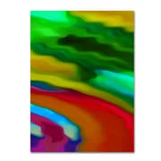 "Trademark Fine Art Amy Vangsgard 'River Runs Through Vertical 3 ' 14"" x 19"" Canvas Stretched (886511936874)"