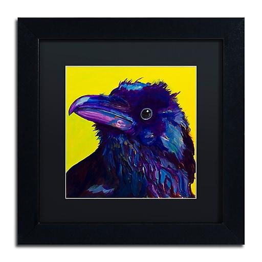 """Trademark Fine Art Pat Saunders-White 'Corvus' 11"""" x 11"""" Matted Framed (190836058396)"""