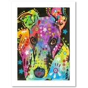 "Trademark Fine Art Dean Russo 'Curious Greyhound' 18"" x 24"" Paper Rolled (190836138623)"