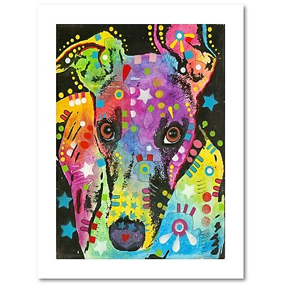 Trademark Fine Art Dean Russo 'Curious Greyhound' 18