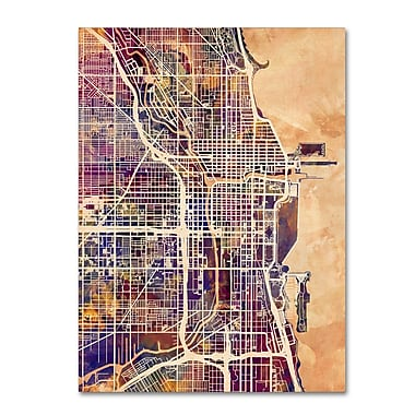 Trademark Fine Art Michael Tompsett 'Chicago City Street Map' 14