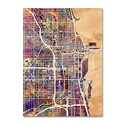 Trademark Fine Art Michael Tompsett 'Chicago City Street Map' 14