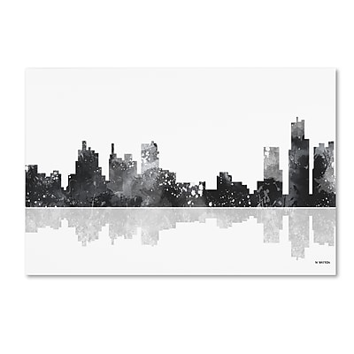 Trademark Fine Art Marlene Watson 'Detroit Michigan Skyline BG-1' 12
