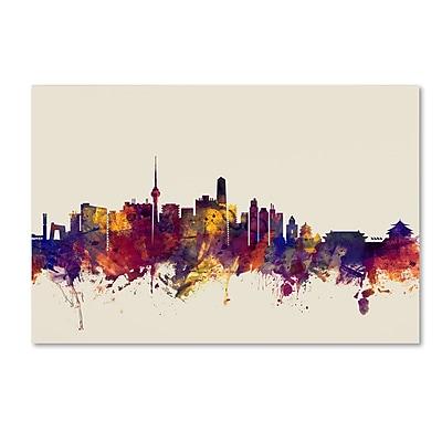 Trademark Fine Art Michael Tompsett 'Beijing China Skyline' 12