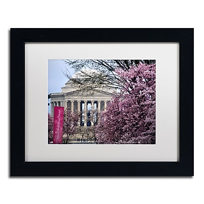 "Trademark Fine Art CATeyes 'Cherry Blossom Festival' 11"" x 14"" Matted Framed (190836097951)"