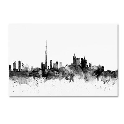 Trademark Fine Art Michael Tompsett 'Toronto Canada Skyline B&W' 12