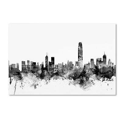 Trademark Fine Art Michael Tompsett 'Hong Kong Skyline B&W' 12