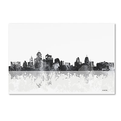 Trademark Fine Art Marlene Watson 'Kansas City Missouri Skyline' 12