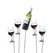 Mind Reader 'Picnic' Wine bottle and Glass Holder Sticks, 5 pc set