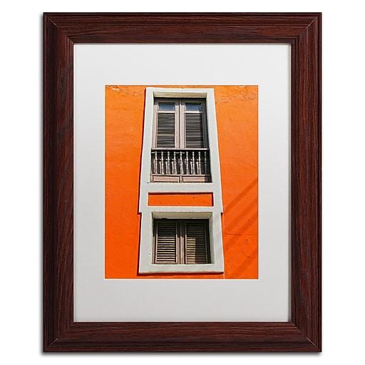 "Trademark Fine Art CATeyes 'Old San Juan 6' 11"" x 14"" Matted Framed (190836038893)"