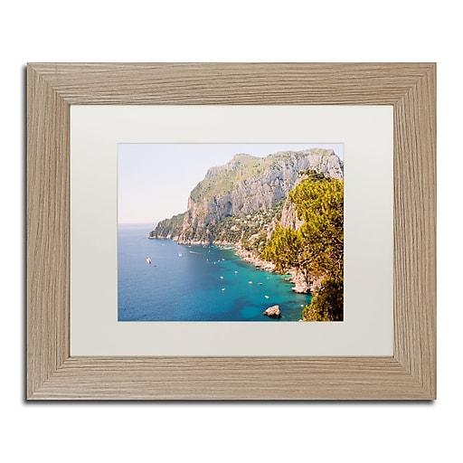 "Trademark Fine Art Ariane Moshayedi 'Capri Vista' 11"" x 14"" Matted Framed (190836266043)"