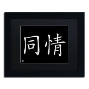 "Trademark Fine Art Compassion-Horizontal Black' 11"" x 14"" Matted Framed (886511949119)"