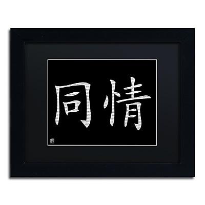 Trademark Fine Art Compassion-Horizontal Black' 11