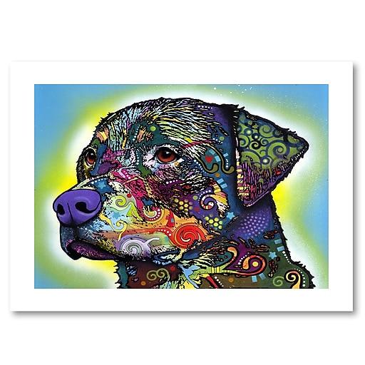 "Trademark Fine Art Dean Russo 'The Rottweiler' 18"" x 24"" Paper Rolled (190836151073)"