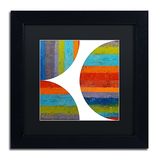 "Trademark Fine Art Michelle Calkins 'Quarter Rounds 1.0' 11"" x 11"" Matted Framed (190836073863)"