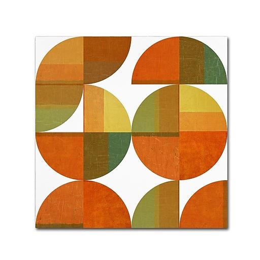 "Trademark Fine Art Michelle Calkins 'Four Suns Quartered 2.0' 18"" x 18"" Canvas Stretched (190836073115)"