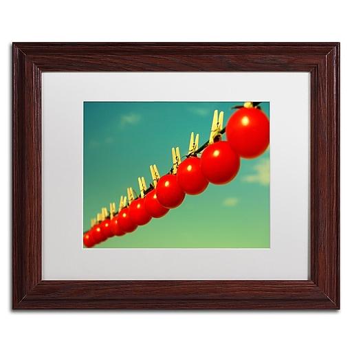 "Trademark Fine Art Beata Czyzowska Young 'Sundried Tomatoes' 11"" x 14"" Matted Framed (190836186129)"