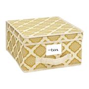 ClosetCandie Medium Storage Box in Jasmine Gold