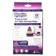 Woolite 4 Piece Air-Tight Vacuum Storage Bags Multi-Pack