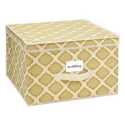 ClosetCandie Jumbo Storage Box in Jasmine Gold