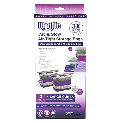 Woolite 2 Piece Air-Tight Jumbo Cube Vacuum Storage Bags