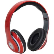 2BOOM HPM380R Mixx Over-Ear Headphones with Microphone (Red)