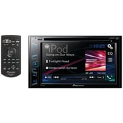 "6.2"" Double-DIN In-Dash DVD Receiver with Bluetooth® & WVGA Clear-Resistive Touchscreen"