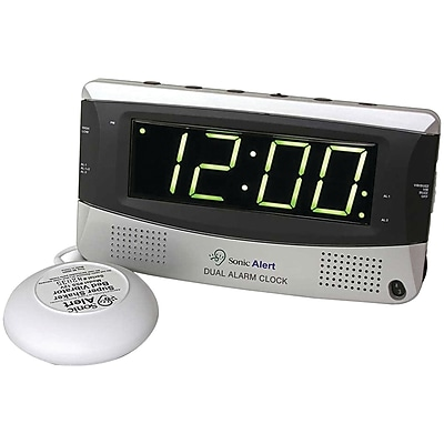 Sonic Alert SBD375ss Sonic Bomb(R) Dual Alarm Clock with Super Shaker(TM) SBD375SS