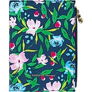 """2020 Simplified 5-1/2"""" x 8-1/2"""" Weekly/Monthly Zipper Pouch Planner, Navy Floral (EL300-200-20)"""