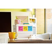 """Post-it® Super Sticky Notes, 3"""" x 3"""", Electric Yellow, 90 Sheets/Pad, 5 Pads/Pack (654-5SSY)"""
