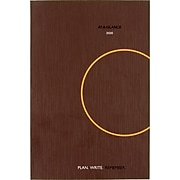 """2020 AT-A-GLANCE 6"""" x 9"""" Daily Planning Notebook, Plan. Write. Remember., Brown (70-6201-30-20)"""