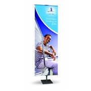 Testrite Visual Products Classic Banner Stands 24 in. Classic Banner Stand- Silver( TTVSP020)