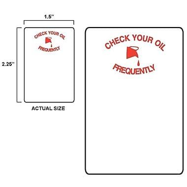 Petoskey Fb-P9933-45 Red Oil Can Sticker - 500 Roll( PTSK051)