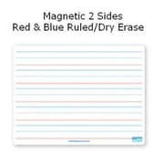 Flipside Products 9x12 Dry Erase Board Magnetic Both Sides Red & Blue Ruled-Dry Erase (RTL10C064)