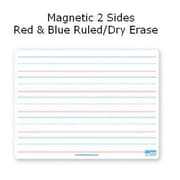 Flipside Products 9x12 Dry Erase Board Magnetic Both Sides Red & Blue Ruled-Dry Erase (RTL10C065)