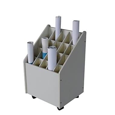 Adir Mobile Wood Roll File 20 Comp. for Blueprints( ADIRCN023)