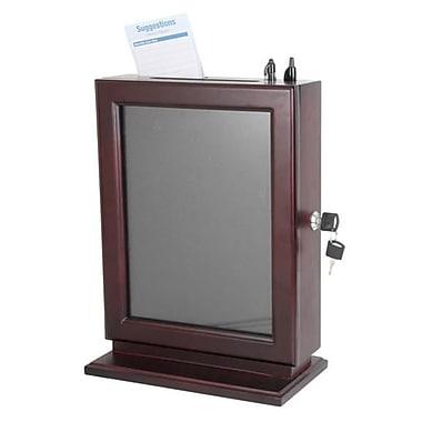 Adir Corp. Wood Suggestion Box - Mahogany - Mahogany (ADIRCN063)