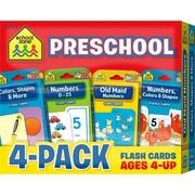 School Zone Publishing Preschool Flash Cards, Pack of 4( EDRE53625)