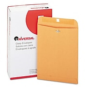 Universal Kraft Clasp Envelope Side Seam 28lb 9 x 12 Light Brown 100/box (AZRUNV35264)