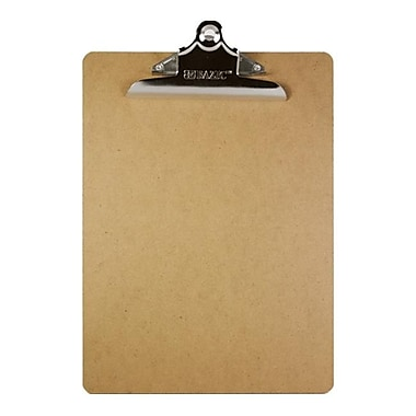 Bazic Standard Hardboard Clipboard with Sturdy Spring Clip- Pack of 24 (BAZC074)