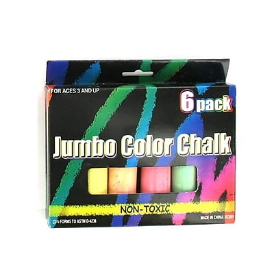 Bulk Buys Assorted Colored Jumbo Chalk - Case of 48 (KOLIM21233) 2598440