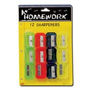Bulk Buys Pencil Sharpeners - assorted colors - 12 pack - Case of 48 (DLRDY236506)