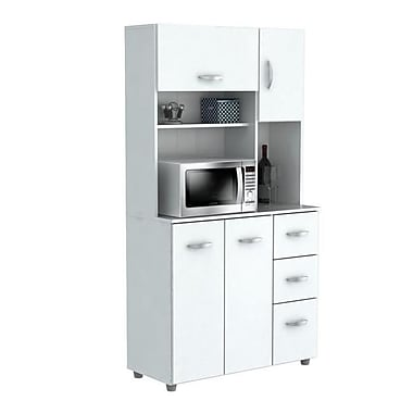 white kitchen storage cabinets. inval kitchen storage cabinet with microwave cart - laricina white (invam077) cabinets c