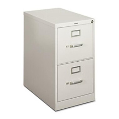 Basyx Vertical File- 2-Drawer- Letter- 15in.x22in.x26-.06in.- Gray (SPRCH26290)