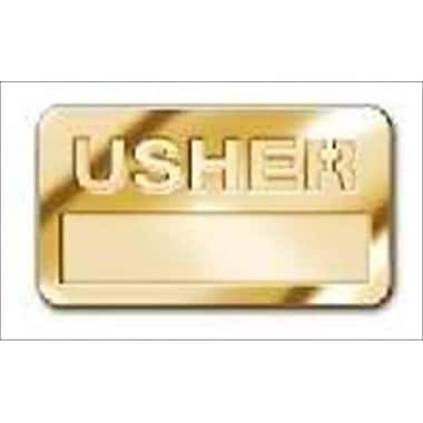 B & H Publishing Group Badge Usher Cut Out Letters Magnetic Brass( ANCRD41664)